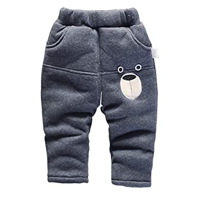 9c55748bf05dd Gyratedream Boys Girls Winter Warm Trousers Thick Cotton Pants 0-5 ...