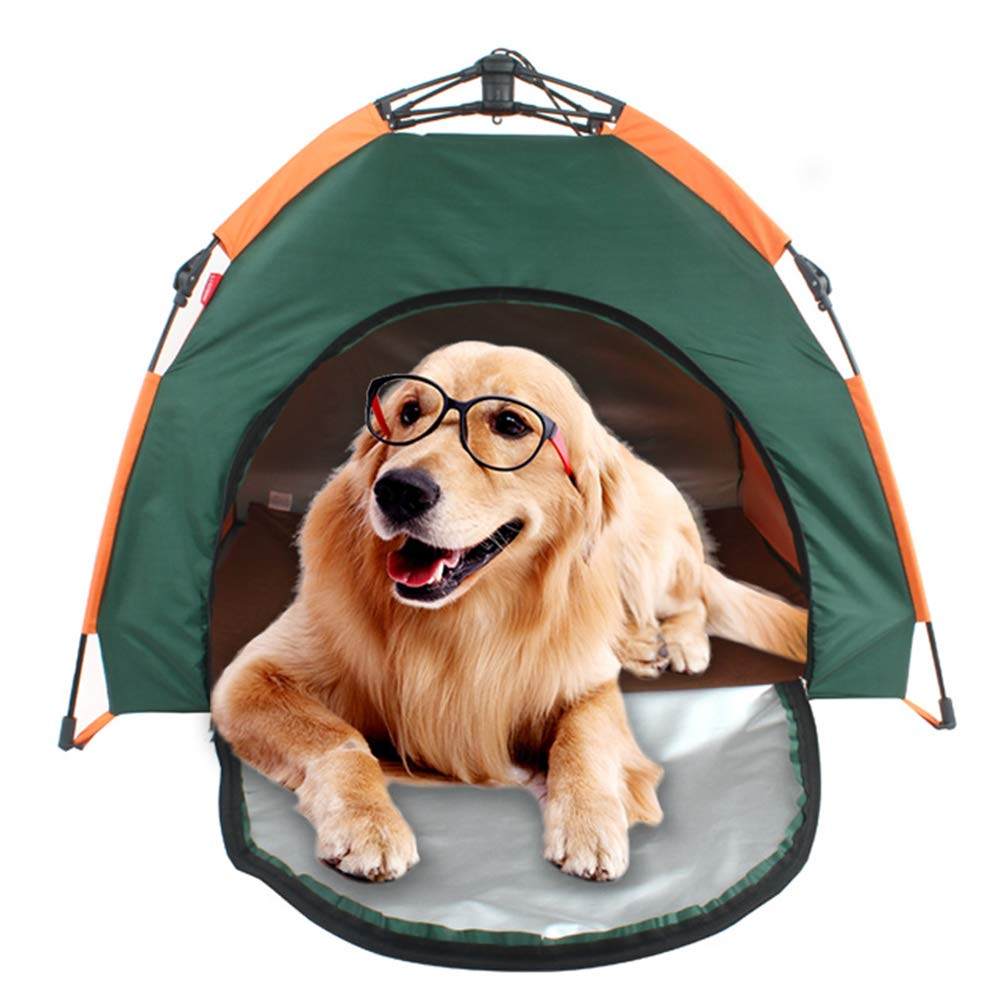 KT Mall Outdoor Dog Bed Tent, Portable Folding Dog Tent Cat House Bed, Waterproof Sunscreen Shelter Indoor Outdoor Garden Pet Camping Shelter House for Dogs Cats