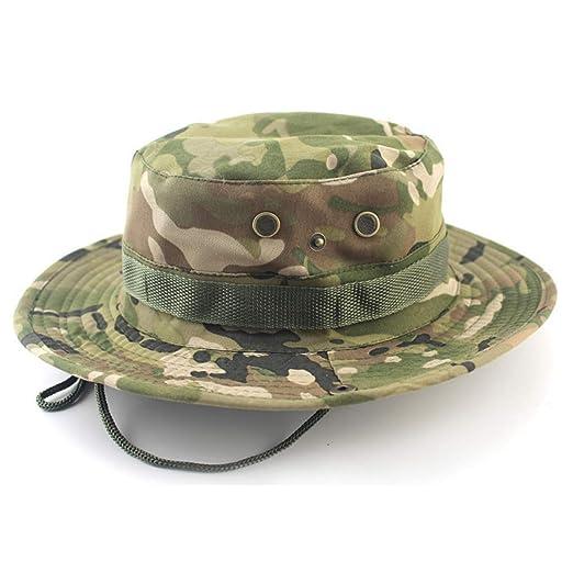 5b28e1b9 Outdoor Boonie Hat Foldable Military Cap Wide Brim Breathable Safari Fishing  Hats UV Protection hat Sun