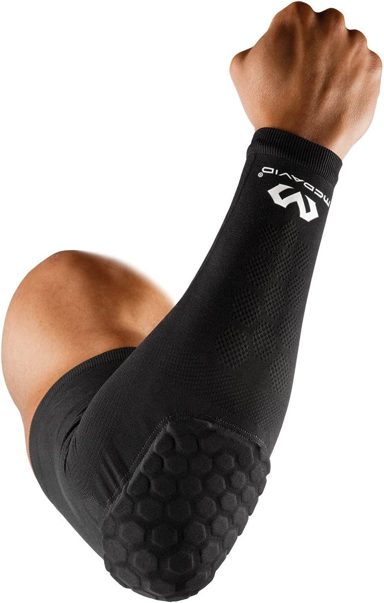 McDavid Elite Hex Arm Sleeve, Protective Padded Arm Sleeve for Basketball, Football or Any Body Contact Sport, Single Sleeve