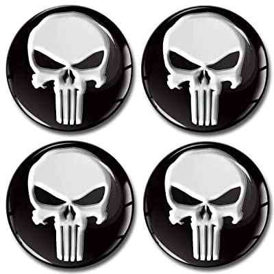 4 x 50mm 3D Stickers for Wheel Center Caps A 150: Automotive