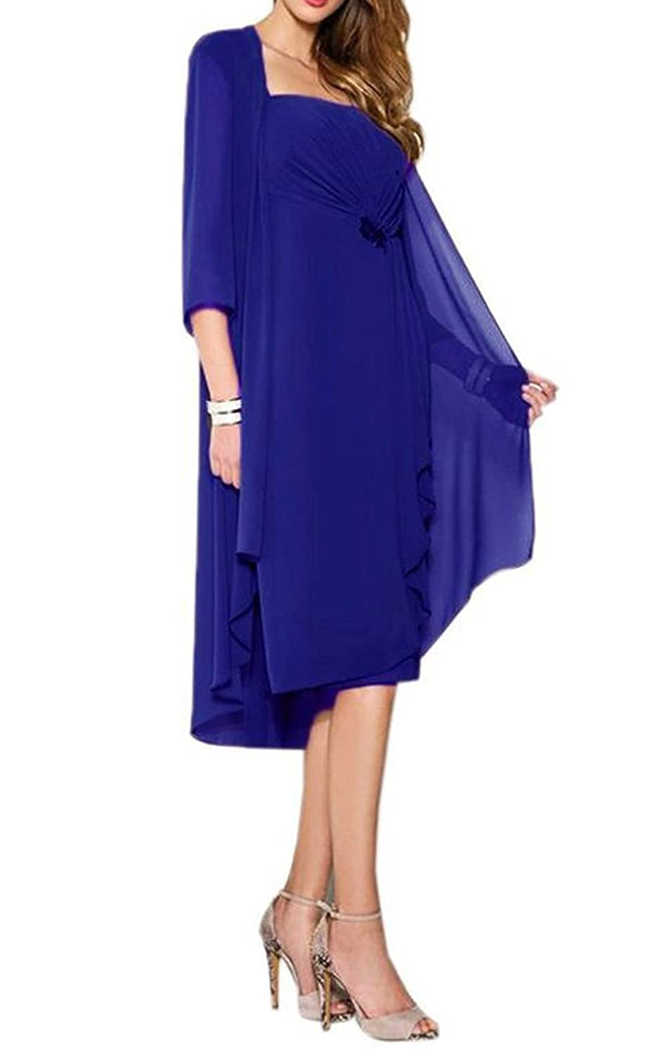 3f360ac1b3b Ruiyuhong Long Sleeves Two Piece Mother of the Bride Dresses Formal Gown  50%OFF