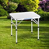 Kaluo 2ft Aluminum Portable Camping Folding Camp Table with Carrying Handle, 23.4-Inch x 17.5-Inch(US Stock)