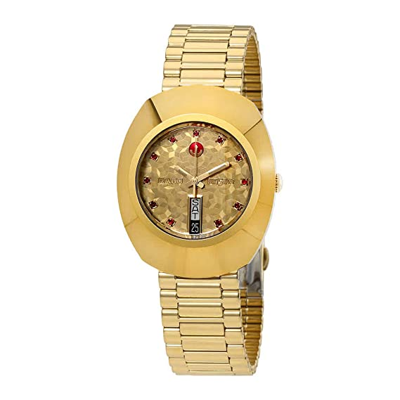 Amazon.com: Rado Original L Automatic Yellow Gold Dial Mens Watch R12413653: Watches