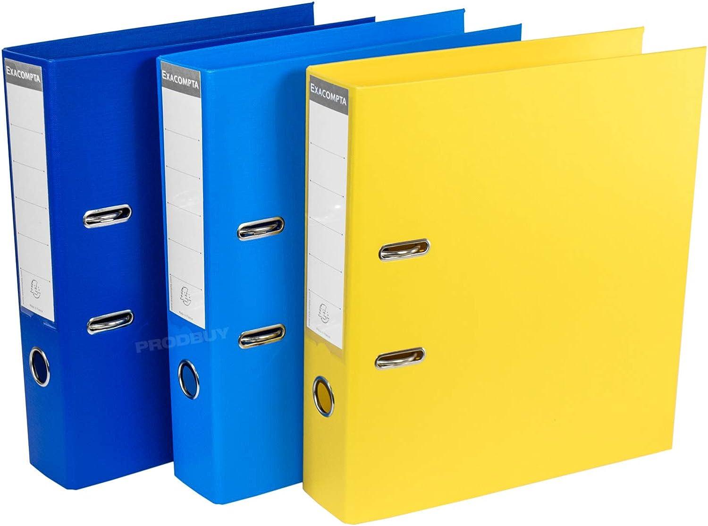 Pack de 3] Color Shades A4 Palanca Arco archivadores 70 mm (azul ...