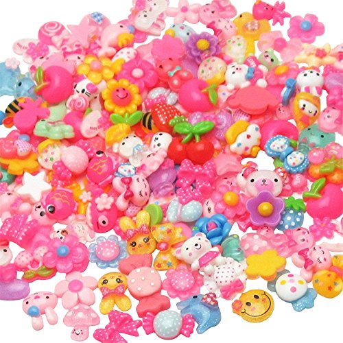 - LibiIine 100pcs Mix Lots Flatback Resin Buttons Flat back Scrapbooking Resin Flatback Craft