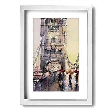 Amazon.com - CASUQC Qcfg The Couple Romantic In The Rain Tower ...