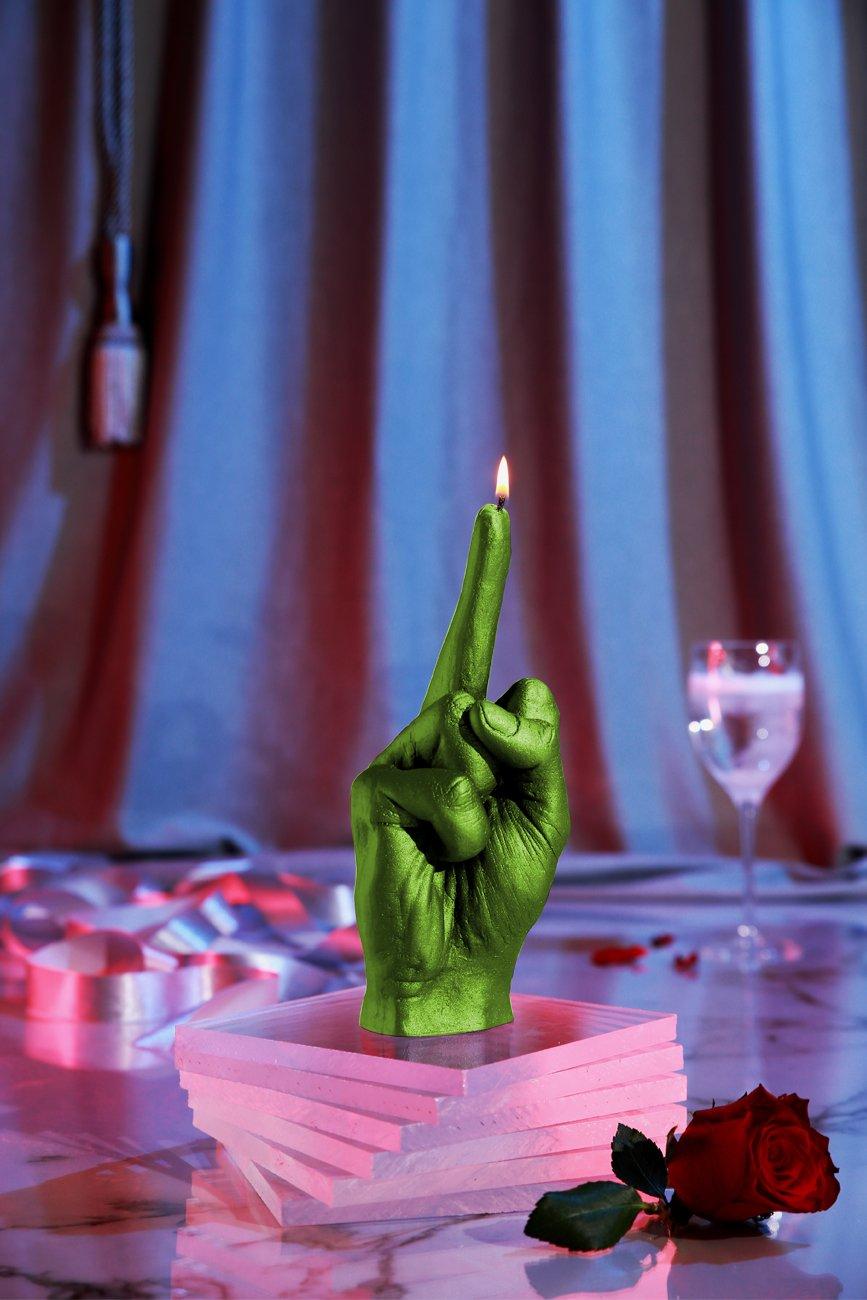 Candellana Candles Candellana- Middle Finger Candle-Lime,