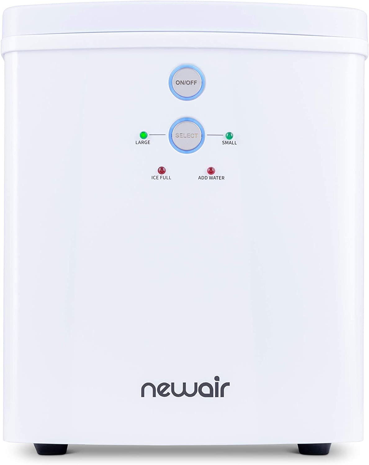 NewAir Portable Maker 33 lb 2 Ice Size Bullets Daily, Perfect Machine for Countertops, NIM033WH00, White