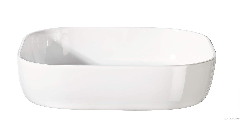 31/x 31/x 7/cm C/éramique Blanc ASA 5123147/XL de Plat /à Gratin