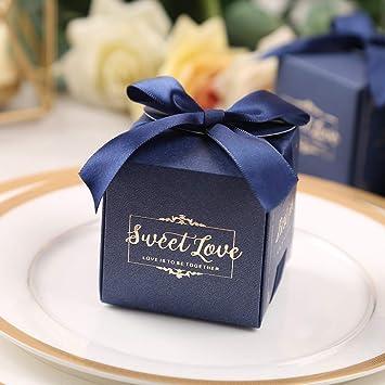 Amazon.com: Doris Home - 50 bolsas de regalo para boda, boda ...