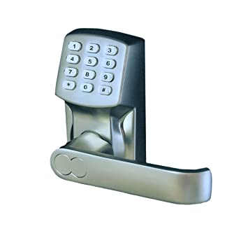 Electronic Keyless Door Lock Set - Satin Nickel (For Right-Hinged Doors Only)  sc 1 st  Amazon.com : amazon door lock - pezcame.com