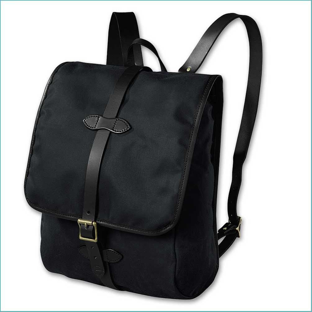 Filson Tin Cloth Backpack - Black