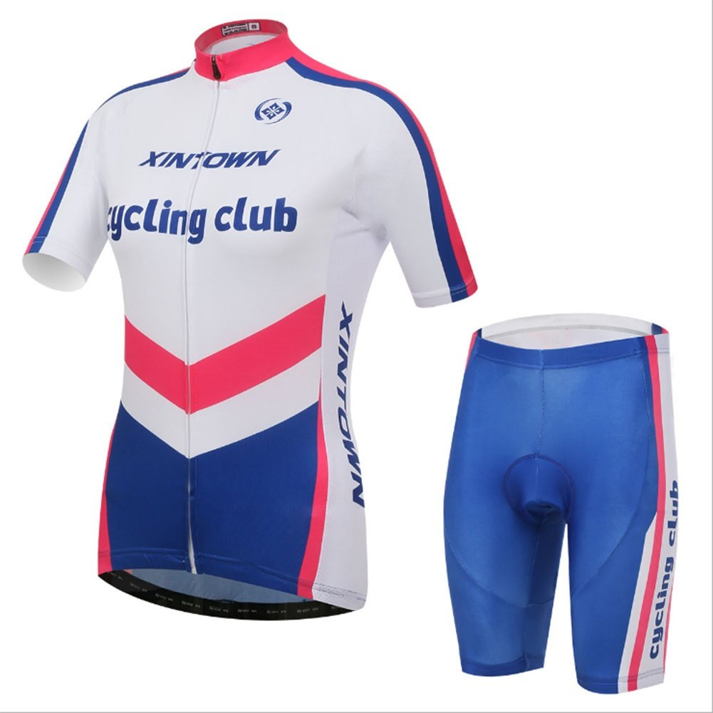 Smwsf WSF Outdoor-Sportarten Reitkleidung Kurzärmeliger Anzug Fahrradkleidung Sommersaison Feuchtigkeitstransport Kleidung Hosen, XL