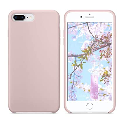reputable site e3ed9 c27d6 SURPHY Silicone Case for iPhone 8 Plus iPhone 7 Plus Case, Soft Liquid  Silicone Slim Rubber Protective Phone Case Cover for iPhone 7 Plus iPhone 8  ...