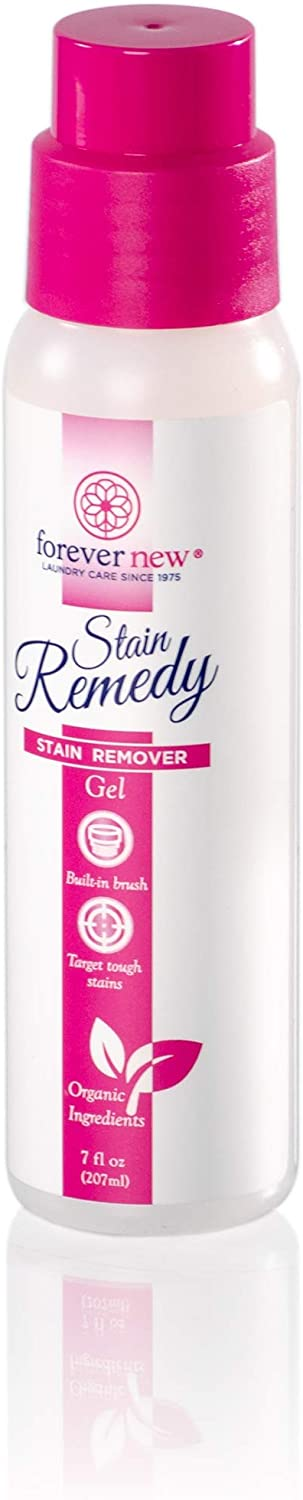 FOREVER NEW Stain Remedy Gel - Fabric Stain Remover - Built-in Brush, 7 Fl Oz