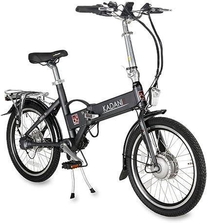 aktivelo Saller kadanie eléctrico de bicicleta plegable de aluminio, 20 pulgadas, antracita: Amazon.es: Deportes y aire libre