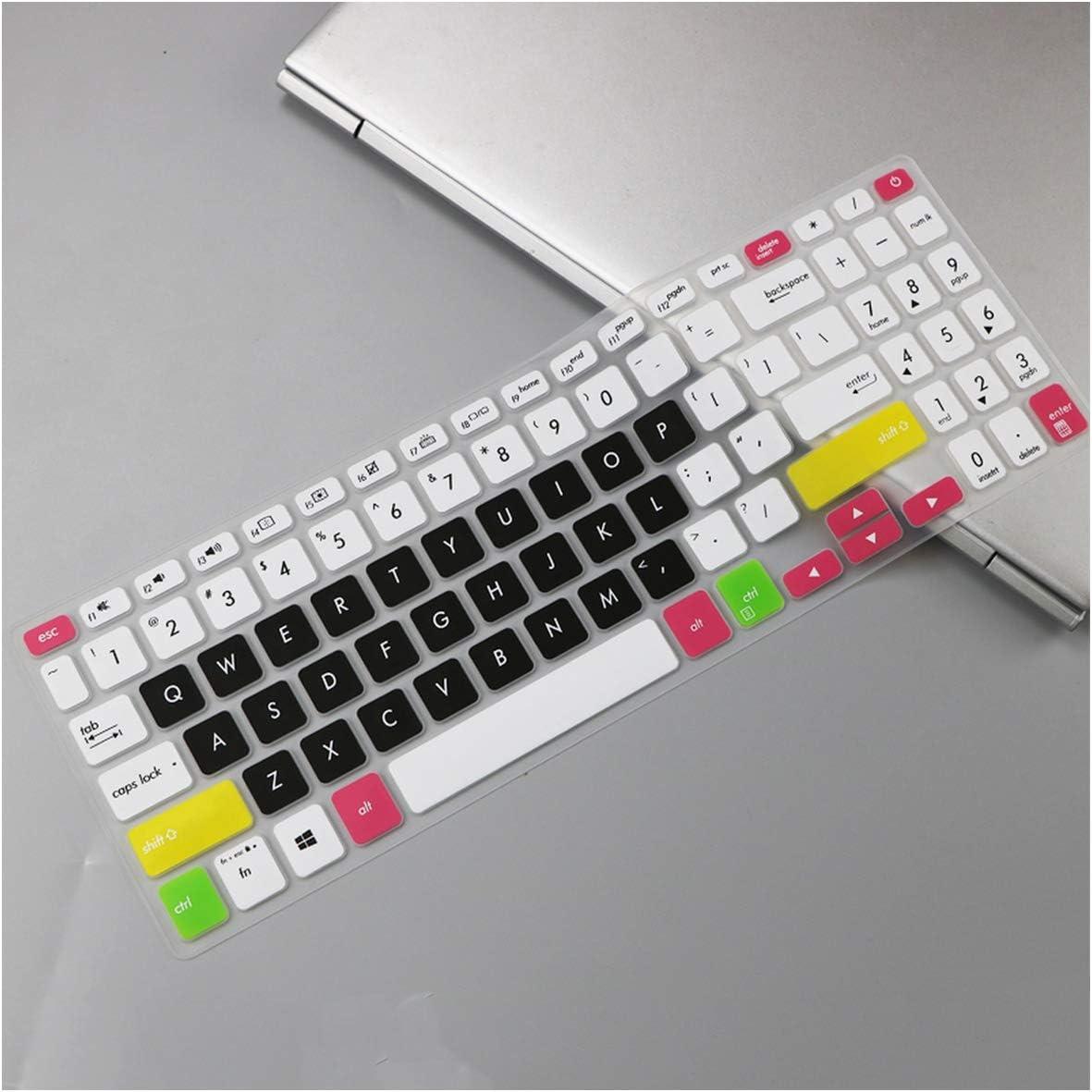 for Asus Vivobook S15 S530un S530F S530FN S530ua S530UF S530fa S530U S530 UN UA 15.6 Inch Keyboard Protector Skin Cove,whiteblue