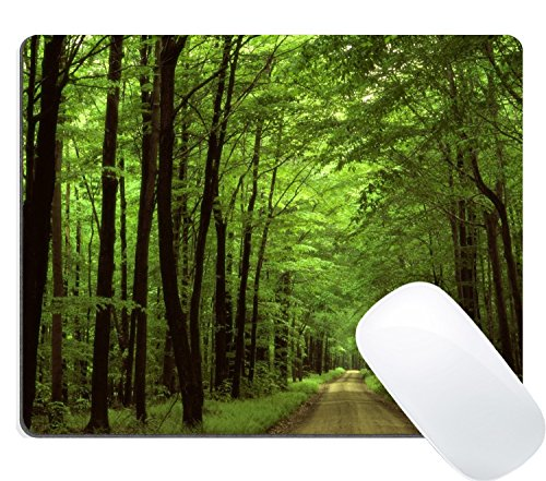 1c1c9ebbb Wknoon Deep in The Forest Thick Green Vegetation Trees Nature Gaming Mouse  Pad