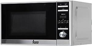 Teka MWE 225 G-Microondas + Grill de Libre instalación de 20L, 5 Niveles de Potencia, 1050 W, 8 menús, Acero Inoxidable, Cristal Gris y Negro, 20 litros