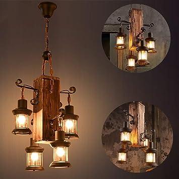 Lámpara en suspensión industrial vintage Lámpara colgante rústica ...