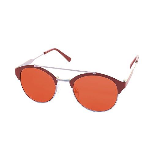 LooKLooK® Gafas de Sol de Moda Estilo Retro Vintage Unisex - Diseño Fashion Elegante Montura Metálic...