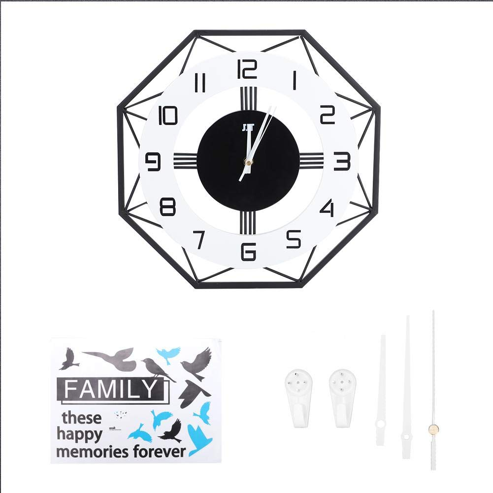 Famus Simple Fashion Nordic Wall Clock Household Quartz Mute Clock Office Home Bedroom Wall Decoration(35cm) by Famus