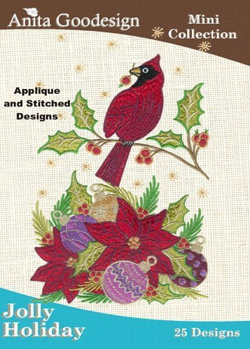 Anita Goodesign Embroidery Designs Cd Jolly Holiday by Christmas Designs