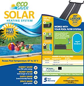 Eco saver 20 foot solar heating panel system - Swimming pool heating system design ...