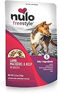 Nulo Freestyle Natural Dog Food Topper, 2.8 oz Pouches, 6 or 24 Count - Grain Free Real Meat Dog Treats - for All Breeds of Dogs and Puppies - Supports Lean Muscle Mass and Healthy Heart