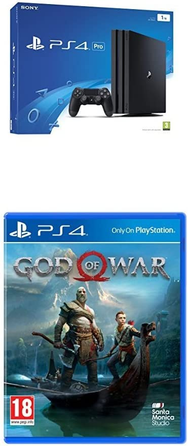 Sony PlayStation 4 Pro 1 TB (Black) + God of War [Importación ...