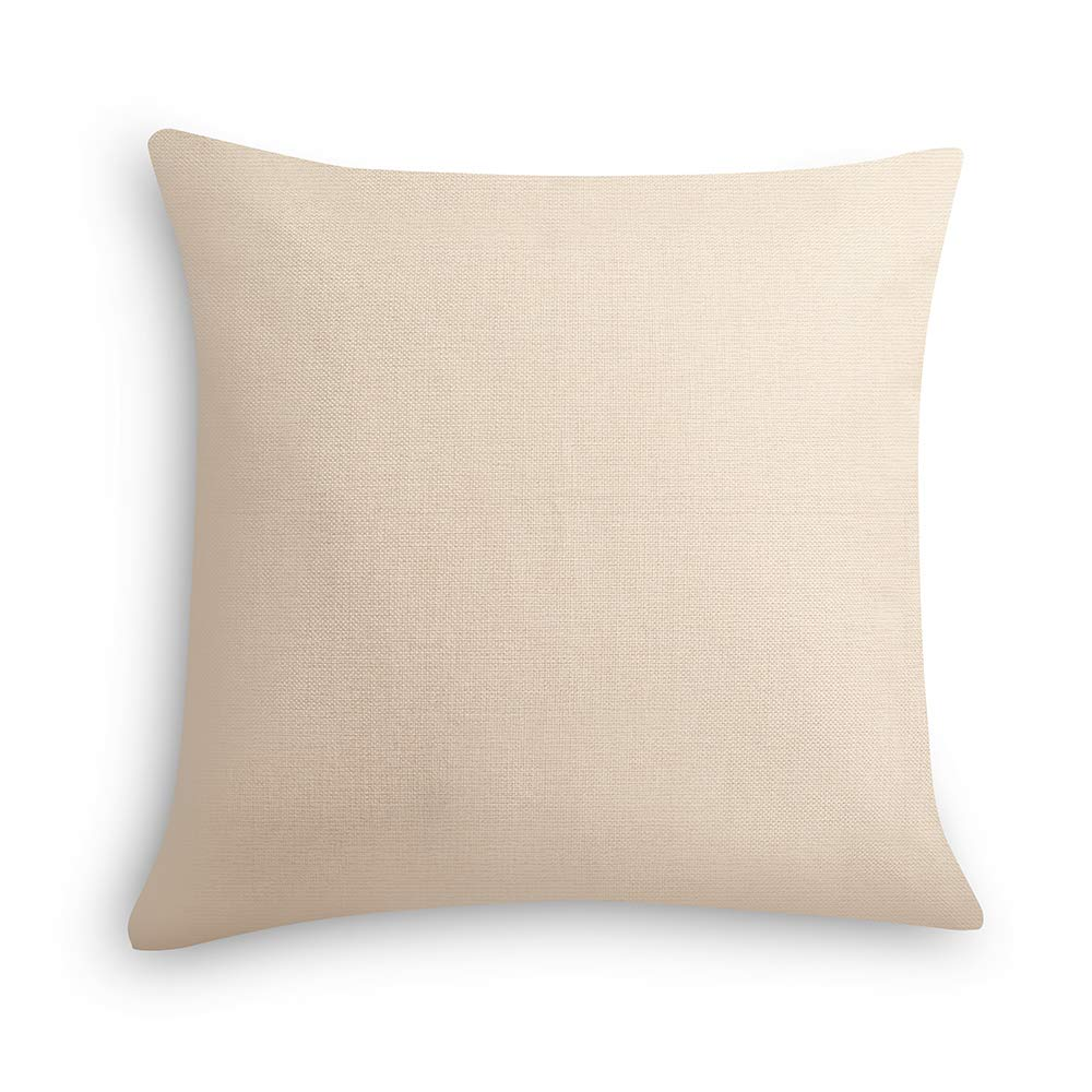 ModeHome Cushion Cover Geometry Style Pillow Case 100% Cotton Linen 18 18 inch Square Throw Pillow Case Home Decorative for Couch Sofa or Bed