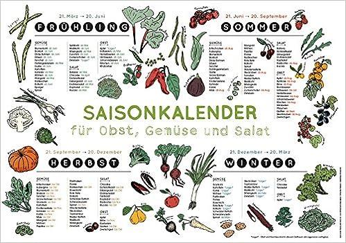 Saisonkalender für Obst Gemüse - Amazon