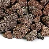 Venetian Princess Lava Rocks - Decorative Landscaping Rocks or Gas Fire Pits Rocks, 3/4' (.75') (10 Lbs, Red Lava Rock)