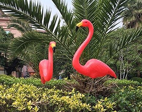 Pareja de flamencos para decoracion de jardin, estanques, rocallas, terrazas, restaurantes, pub, chillout de OPEN BUY: Amazon.es: Hogar