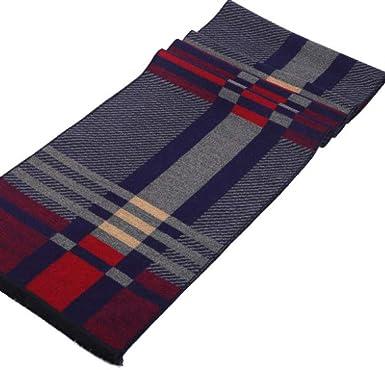 Songqiang Echarpe en coton dhiver pour hommes avec foulard /à rayures de luxe