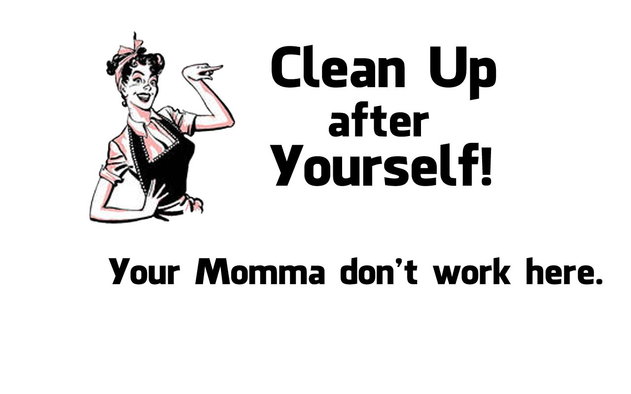 Amazon Funny Sayings Clean Up After Yourself Vinyl Car Decal White 5 By Inches Automotive