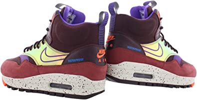 Nike WMNS Shoes Air Max 1 Mid Sneakerboot 685269 600 Size 7 Deep Burgundy