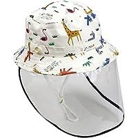 Exceart Sombrero de Protección Protector Facial Protector contra Salpicaduras Sombrero de Pescador para Niños Uso Doméstico O Al Aire Libre 46Cm