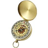 ExeQianming kompas retro overlevingsuitrusting gebruikt voor militaire Camping wandelen gereedschap (metaal)