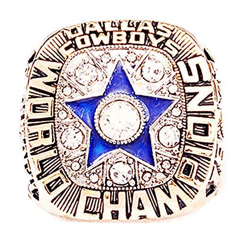 6th 1971 Dallas Cowboys MVP Roger Staubach 12# - Football World Championship Ring Size 11