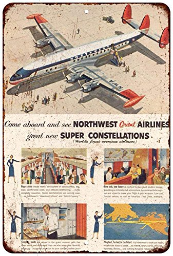 Northwest Airlines Constellation Vintage Look Reproduction