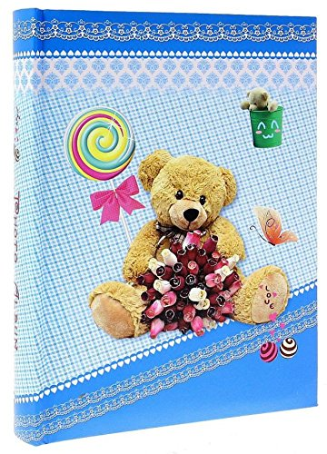 Album Photo à pochettes Naissance Bear Bleu pour 200 photos 10x15 cm LCD