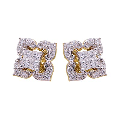 Buy joyalukkas 18k yellow gold and diamond stud earrings online at joyalukkas 18k yellow gold and diamond stud earrings mozeypictures Images