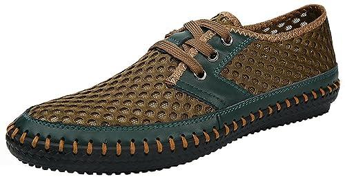 168ef40f10 MOHEM Men s Poseidon Casual Water Shoes Mesh Walking Quick Drying Hiking  Shoes (3166Green38)