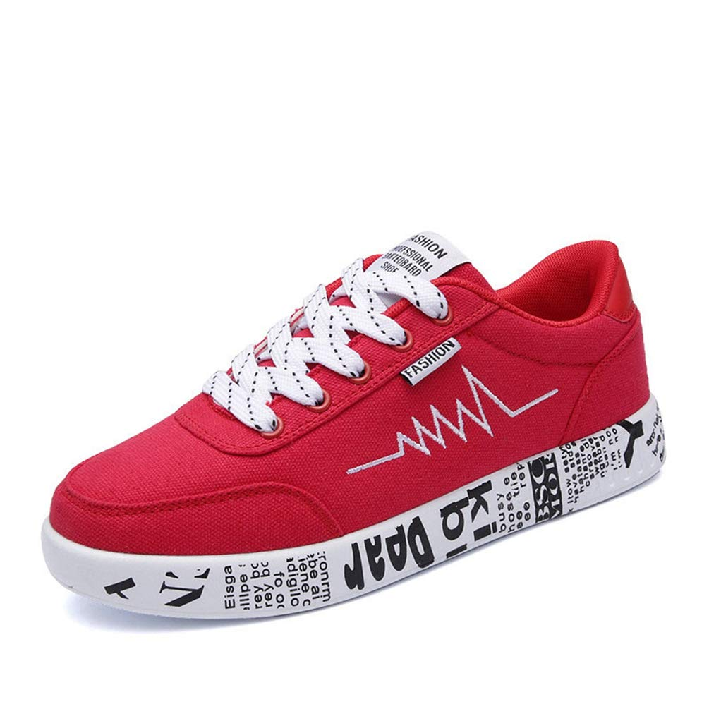 Red T-JULY Spring Summer Women Casual Breathable shoes Canvas Sneakers Graffiti Ladies shoes