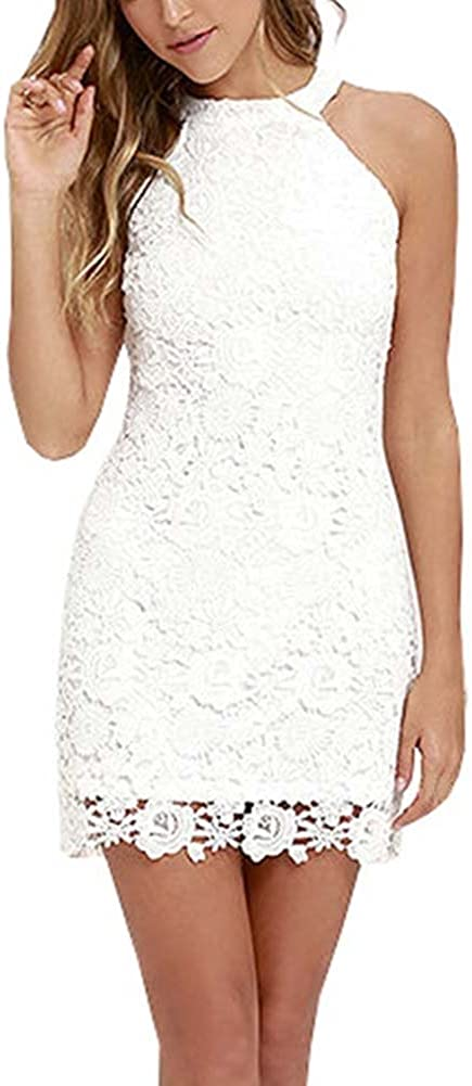 Wodery Le Donne Pizzo Floreale Cut-out Vestito da Cocktail Sfera Vestitino Gown