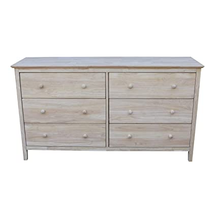 Amazon Com International Concepts Dresser With 6 Drawers