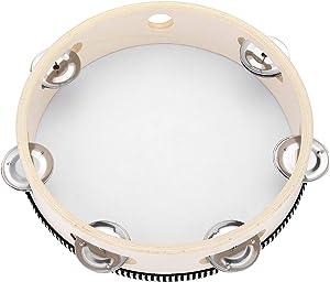 Giveaway: Tambourine for Church 8 inch Hand Held Drum Bell Birch Metal...