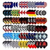 25 Sets(75pcs) 2D Cool Bling Standard Dart Flights Nice Darts Tail Wing Flight Outdoor Sports Professional New shafts